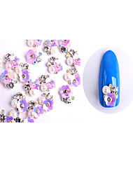 cheap -10 Nail Jewelry Metallic Flower Fashion Lovely Pearl High Quality Daily