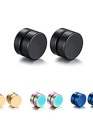 cheap -Men's - Casual / Fashion Black Round Earrings For Christmas Gifts / Daily / Casual