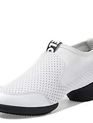 Damer Moderne Læder Sneaker Splitsål Udendørs Lave hæle Hvid Sort 4 cm Kan ikke tilpasses