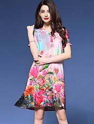 cheap -Women's Daily Vintage Plus Size / A Line Dress