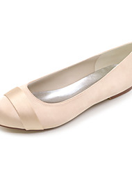 cheap -Women's Spring Summer Fall Winter Satin Wedding Party & Evening Flat Heel Black Blue Pink Purple Red Ivory White Silver