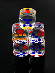 cheap -Dice Dices and Chips Toys Multi Function Convenient Fun Square Crystal PVC 10 Pieces Gift