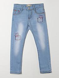 preiswerte -Mädchen Jeans-Lässig/Alltäglich Jacquard Baumwolle Herbst Blau