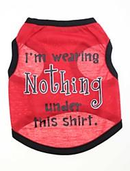 economico -Gatto Cane T-shirt Abbigliamento per cani Floral / botanico Rosso Cotone Costume Per animali domestici Per uomo Per donna Di tendenza