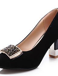 cheap -Women's Shoes Leatherette Spring Summer Fall Chunky Heel With For Casual Burgundy Black Blue