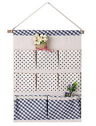 cheap -Multi-Layer Cotton Nonwovens Pots Door Rear Hanging Storage Bags