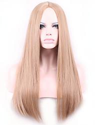 Недорогие -жен. Парики из искусственных волос Без шапочки-основы Прямые Яки Блондинка Парики для косплей Карнавальные парики