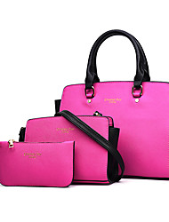 Women Bags All Seasons PU Tote for Shopping Casual Formal Office & Career Black Fuchsia Red Blue
