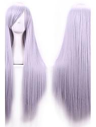 abordables -Pelo sintético pelucas Corte Recto Parte lateral Con flequillo Sin Tapa Peluca de carnaval Peluca de Halloween Larga