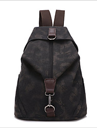Women Bags All Seasons Canvas Backpack for Casual Black Gray Red Blue Khaki