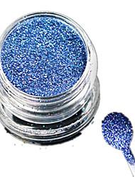 1 Bottle Nail Art Laser Beautiful Light Blue Glitter Shining Powder Manicure Makeup Decoration Nail Beauty L10