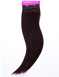 cheap -1PC TRES JOLIE Remy Yaki 12Inch Color 99J Human Hair Weaves