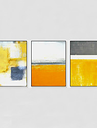 cheap -Hand-Painted Abstract Modern,One Panel Canvas Oil Painting