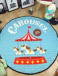 """Playground Toys Storage Bag Carpet Kids Game Mats diameter 59"""" baby Crawling multifunctional round blanket Play Rug"""