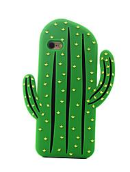 de volta À Prova de Impacto Fruta Silicone Macio cactus Case Capa Para Apple iPhone 6s Plus/6 Plus / iPhone 6s/6 / iPhone SE/5s/5