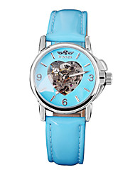 Women's Heart Design  Mechanical Watch WINNER Self-Wind Skeleton Hollow Casual  Wrist watches Cool Watches Unique Watches Fashion Watch