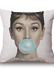 cheap -pcs Cotton/Linen Pillow Cover, Graphic Prints Novelty Casual Modern/Contemporary