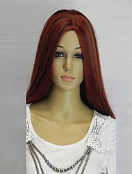 cheap -new cosplay long dark red mixed straight human manufacture hair wig