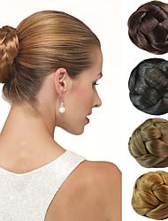 voordelige -bruids opsteekkapsel chignon broodje clips synthetisch straight hair extensions meerdere kleuren