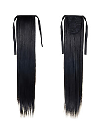 cheap -Synthetic Ponytail Hairpieces 22inch 55cm 100g #1 Natural Black Color Long  Hair Extensions