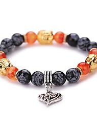 Bracelets de rive Mode Vintage Adorable Perlé Coloré Pierres synthétiques Agate Coquillage Alliage Forme Géométrique Amour Bijoux Pour