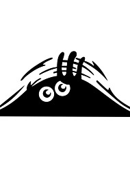 cheap -ZIQIAO Funny Car Sticker Peeking Monster Voyeur Car Hoods Trunk Thriller Rear Window Decal