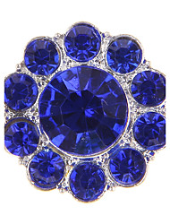Forme de Cercle Forme Géométrique Perle Imitation Diamant Alliage Européen Blanc Jaune Vert Bleu Rose Bijoux Pour 1pc
