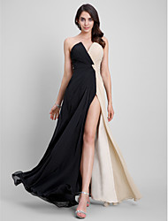 cheap -Sheath / Column Strapless Floor Length Chiffon Formal Evening Dress with Criss Cross by TS Couture®