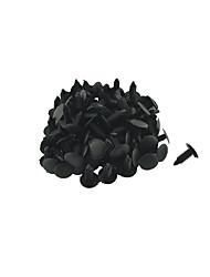 economico -k027 100 pannello interno pezzi auto clip assetto di plastica nera per rivetti