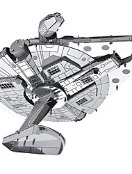 cheap -Millennium Falcon 3D Puzzles Metal Puzzles Model Building Kits Spacecraft 3D Metal War 8 to 13 Years