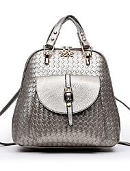 Women Bags All Seasons PU Backpack for Shopping Casual Formal Office & Career Black Silver Red Blue
