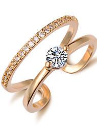 preiswerte -Ring - 1 Kreisform Stilvoll / Klassisch Gold / Silber Ring Für Hochzeit / Party / Party / Abend