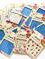 20PCS Different Styles Individuality Elegant Packaging Water Transfer Printing Nail Stickers