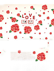 cheap -Removable Wall Stickers Red Rose Frame Wall Stickers