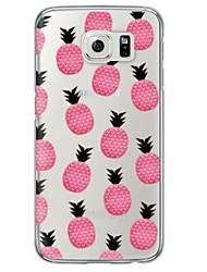 preiswerte -Für Samsung Galaxy S7 Edge Transparent / Muster Hülle Rückseitenabdeckung Hülle Frucht Weich TPU SamsungS7 edge / S7 / S6 edge plus / S6