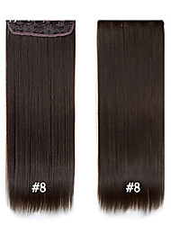 "cheap -Best Quality Straight Synthetic Clip In Hair Extensions  24""/60cm 120g 5clips/set Heat Resistant Fiber Synthetic"