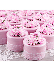 cheap -Cylinder Metal Favor Holder With Laces Flowers Candy Jars and Bottles-10