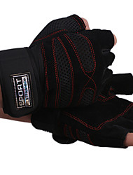 Gym exercise dumbbell weightlifting sport gloves Half Finger Gloves half gloves Leather Bracers