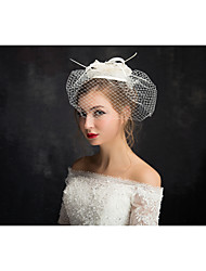 cheap -Flax Lace Feather Net Fascinators Headpiece Classical Feminine Style