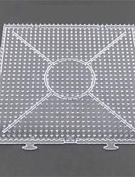 cheap -1PCS Template Clear General Linkable Large Pegboard 15*15cm Square for 5mm Hama Beads Fuse Beads
