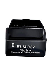 Недорогие -черный мини ELM327 Bluetooth OBD2 v2.1 автоматический детектор