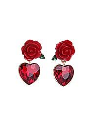 cheap -European Luxury Gem Geometric Earrrings Vintage Rose Waterdrop Drop Earrings for Women Fashion Jewelry Best Gift