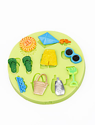 Summer Beach Toy Cupcake Decoration Silicone Chocolate Mold Fondant Sugarcraft Tools Polymer Clay Candy Making