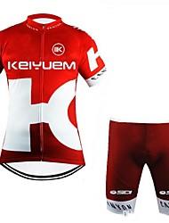 economico -Manica corta Maglia con pantaloncini da ciclismo Formale Bicicletta Pantaloncini /Cosciali Maglietta/Maglia Set di vestiti, Ompermeabile,