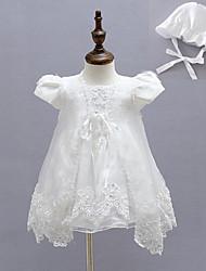 Robe bébé Fleur Soirée / Cocktail Polyester Toutes les Saisons Blanc