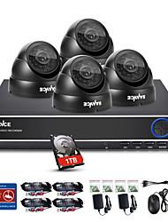 sannce® 4ch 720p DVR system1280 наблюдения * 720p на открытом воздухе камеры безопасности максимальное расстояние ИК (30м) встроенный 1tb