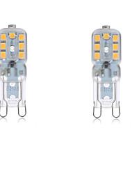 Недорогие -2.5 W Двухштырьковые LED лампы 2700-6500 lm G9 T 14 Светодиодные бусины SMD 2835 Водонепроницаемый Декоративная Тёплый белый Холодный белый 220-240 V 110-130 V / 2 шт. / RoHs