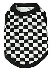 preiswerte -Katze Hund T-shirt Hundekleidung Atmungsaktiv Modisch Plaid/Karomuster Schwarz Kostüm Für Haustiere