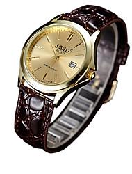 cheap -Couple's Fashion Watch Quartz Casual Watch PU Band Charm Brown