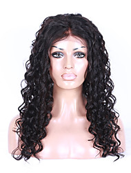 cheap -Grade 9A Brazilian Virgin Hair Full Lace Wig Kinky Curly Hair Natural Black Color Virgin Human Hair Lace Wig Curly Hair With Adjustable Strap Back